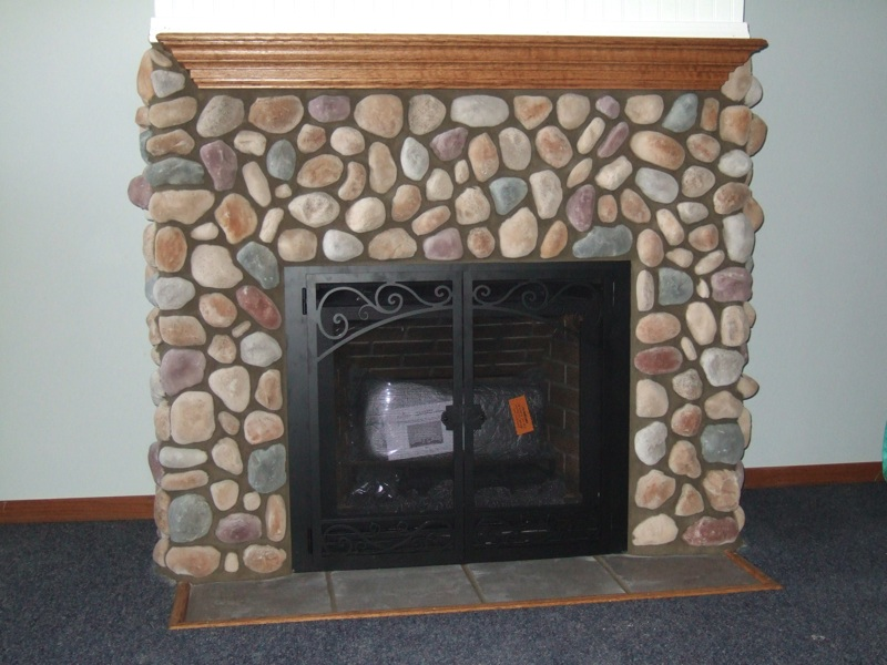 Gas Stone Fireplace fireplaces, masonry, and wood stoves for traverse city | hoopfer
