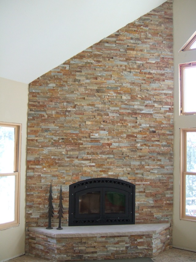 Brick or stone faced fireplace - Building a Home Forum - GardenWeb